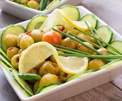 Chilimarinert oliven