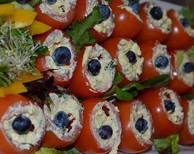 Tomater fylt med feta