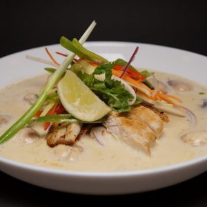 Spicy Kyllingsuppe - tom ka gai