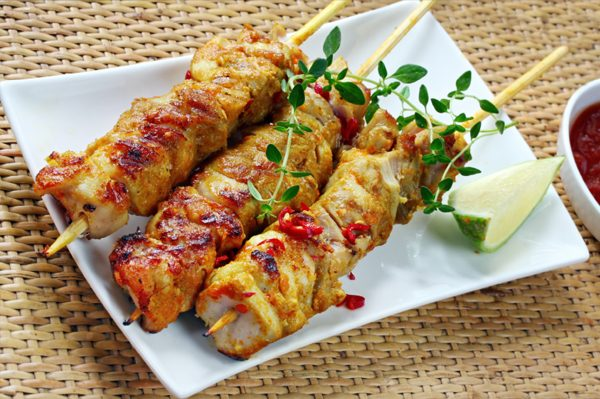 Kyllingsticks Thaicurry-glace