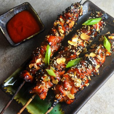 Kyllingsticks BBQ-Rub servert varmt
