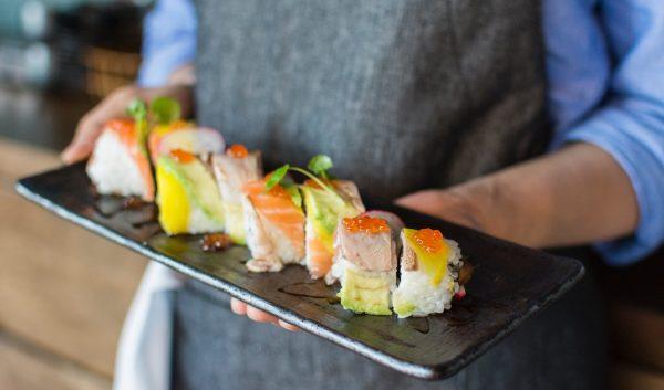 Tapasbuffet asiatisk m/ sushi